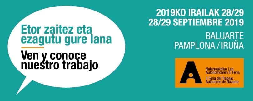 Abierto el plazo para la solicitud de estand gratuito en la II Feria de Trabajo Autónomo de Navarra