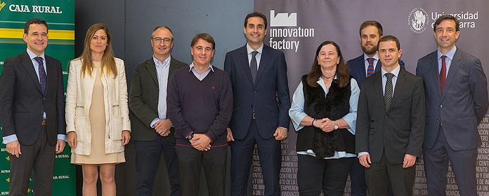 Cinco proyectos emprendedores, premiados por la Universidad de Navarra y Caja Rural
