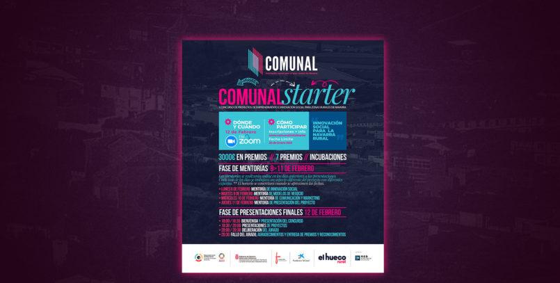 Abierto el plazo de inscripción para el 1er concurso de emprendimiento e innovación para zonas rurales de Navarra: Concurso Comunal Starter