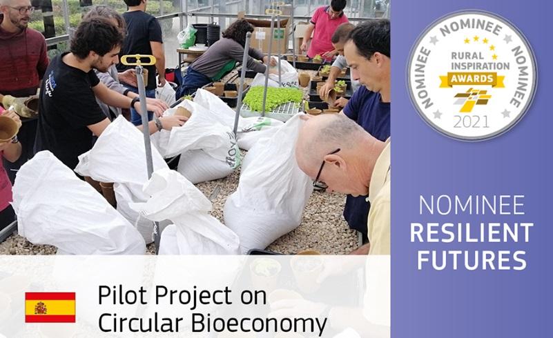 Un proyecto de la UPNA y la empresa Josenea para gestionar y reaprovechar residuos orgánicos, finalista en los Rural Inspiration Awards