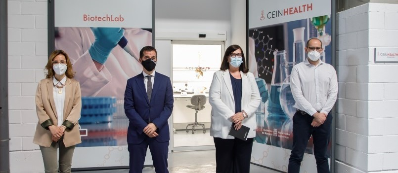 El consejero Irujo inaugura el laboratorio CEINHealth Biotechlab, dirigido a startups biotecnológicas de salud