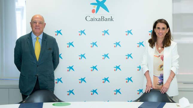 CaixaBank y la Cámara Navarra firman un convenio para cofinanciar en la Comunidad Foral el plan España Emprende