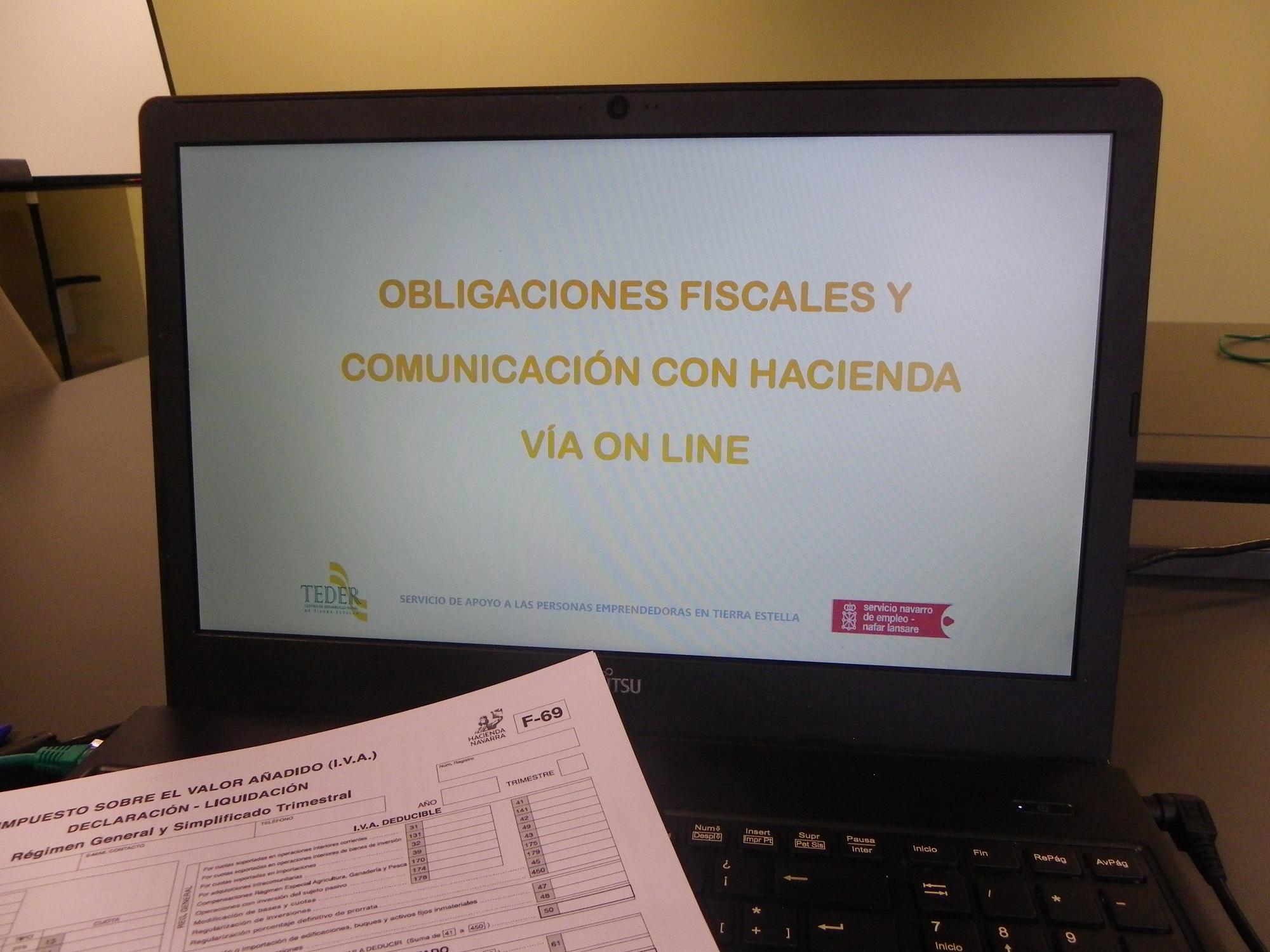 TRAMITACIÓN ELECTRÓNICA Y OBLIGACIONES FISCALES.- TIERRA ESTELLA